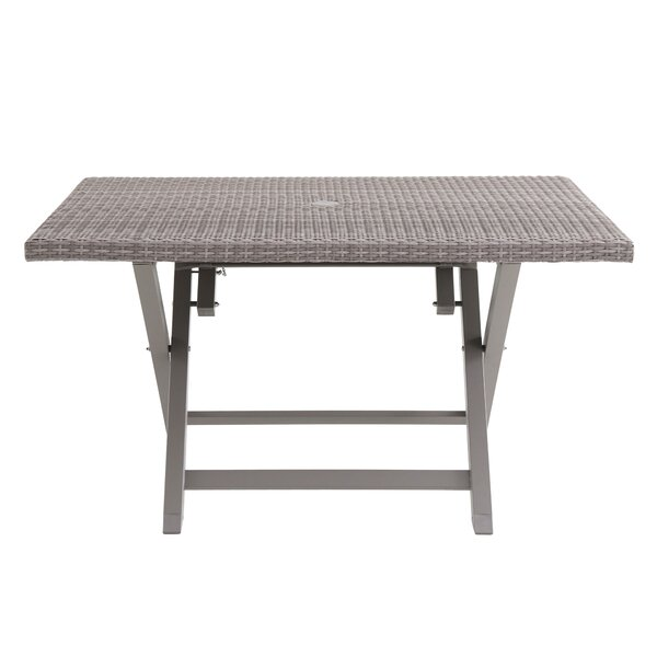 Specht 6 Person Folding Resin Wicker Dining Table by Ebern Designs