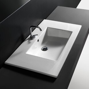 Buying Ceramic Rectangular Drop-In Bathroom Sink with Overflow By WS Bath Collections