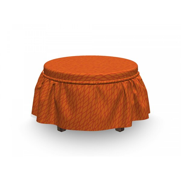 Outdoor Furniture Abstract Foliage Ottoman Slipcover (Set Of 2)