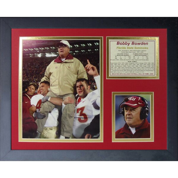 Bob Bowden - Florida State Framed Memorabilia by Legends Never Die
