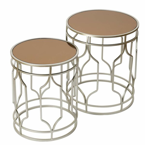 Anwen Decorative Round 2 Piece Nesting Tables by Mercer41