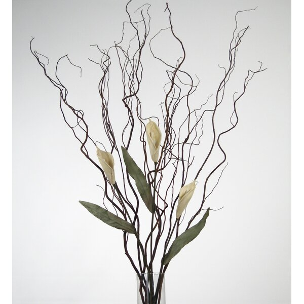Curly Willow and Calla Lilies Floral Arrangement by House of Hampton