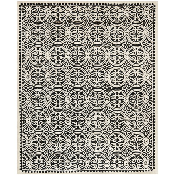 Fairburn Black/Ivory Area Rug by House of Hampton