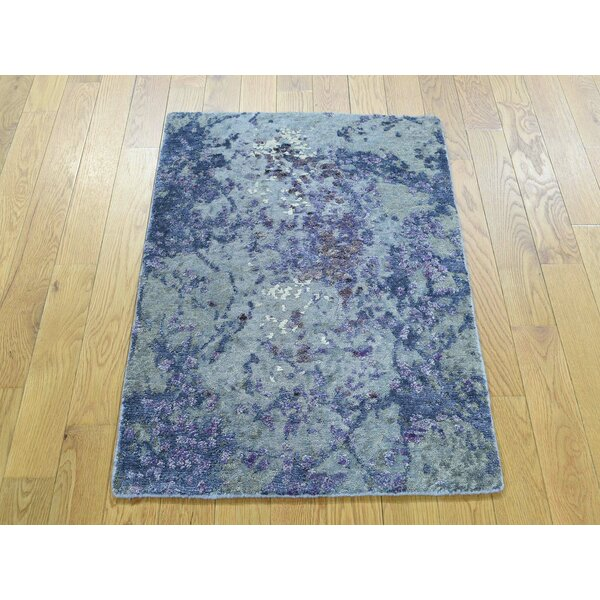 One-of-a-Kind Bowes Abstract Design Handwoven Wool/Silk Area Rug by Isabelline