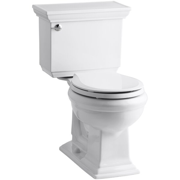 Memoirs Stately Comfort Height Two-Piece Round-Front 1.28 GPF Toilet with Aquapiston Flush Technology, Left-Hand Trip Lever and Insuliner Tank Liner by Kohler