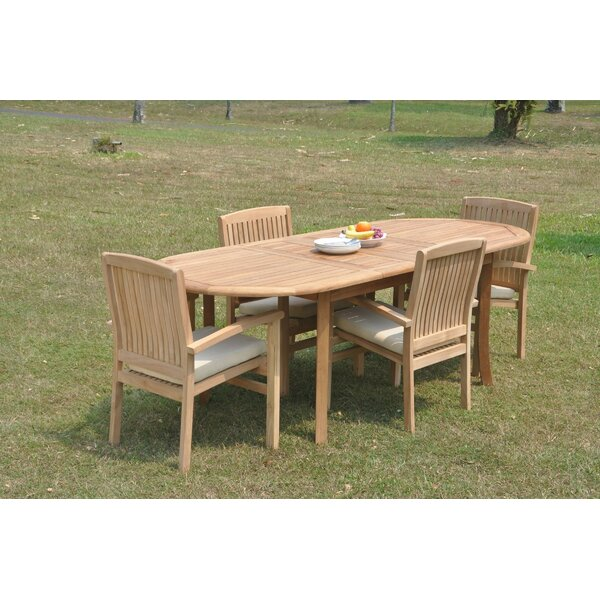 Javen 5 Piece Teak Dining Set by Rosecliff Heights