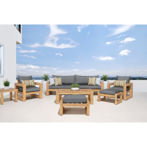 Mcclain 8 Piece Sunbrella Sofa Seating Group with Cushions by Rosecliff Heights