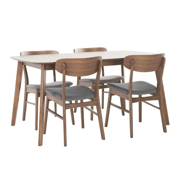 Feldman 5 Piece Dining Set by Brayden Studio
