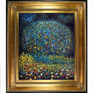 'Apple Tree I' by Gustav Klimt Framed Oil Painting Print by Fleur De Lis Living