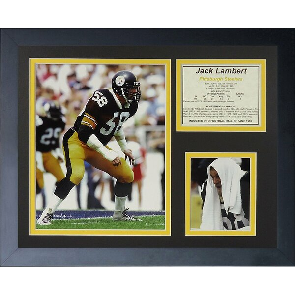 Jack Lambert Home Framed Memorabilia by Legends Never Die