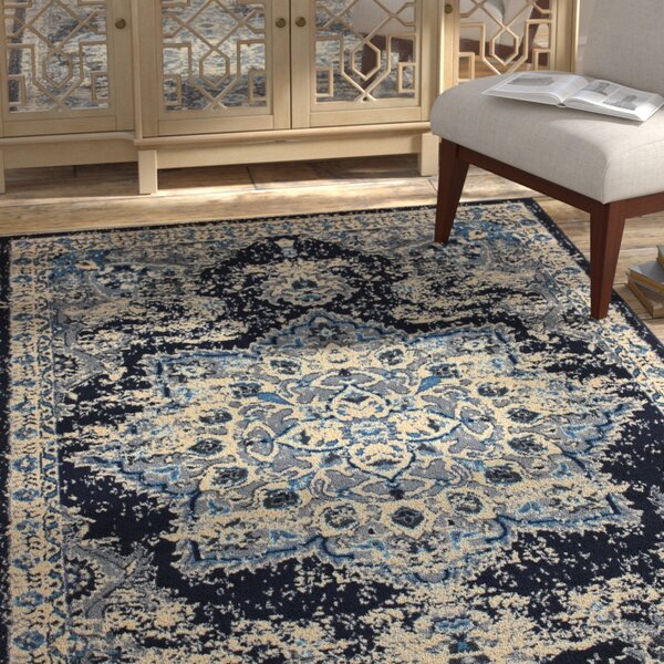 Borden Gray/Black Area Rug by Bungalow Rose