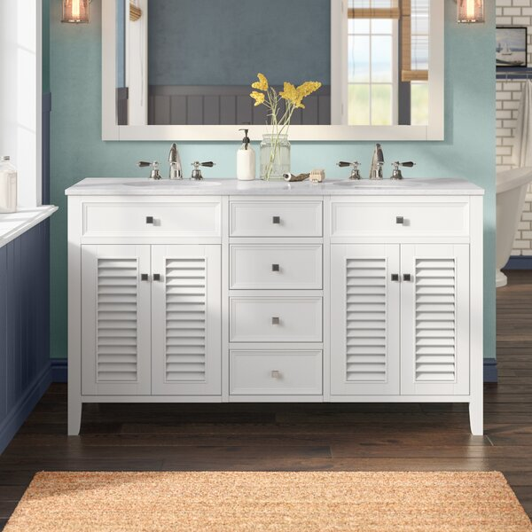 Sandburg 60 Double Bathroom Vanity Set by Beachcrest Home