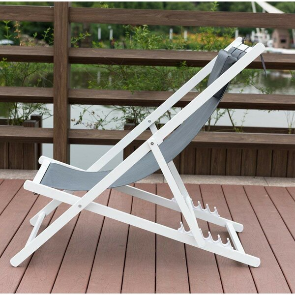Robert Outdoor Portable Folding Beach Chair with Cushion by Longshore Tides Longshore Tides