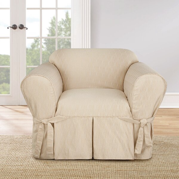 Strand Waverly Box Cushion Armchair Slipcover by Sure Fit