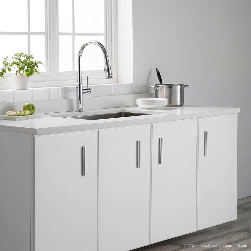 Kraus Sellette Pull Down Single Handle Kitchen Faucet & Reviews ...