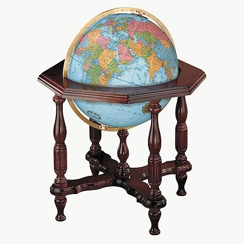 Statesman Blue Illuminated World Globe by Replogle Globes