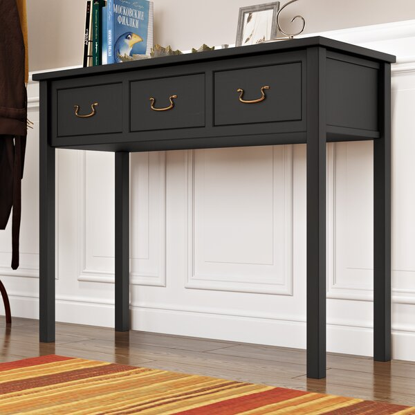Affordable Sadie 39.4 Solid Wood Console Table by Andover Mills