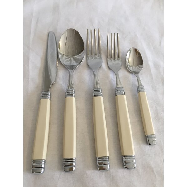 Rossini 5-Piece Flatware Set by Euro Ceramica