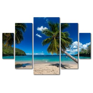 Martinique by Mathieu Rivrin 5 Piece Photographic Print on Wrapped Canvas Set by Trademark Fine Art