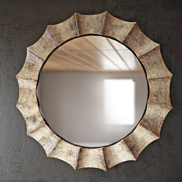 Manuel Vertical Round Wall Mirror by Trent Austin Design