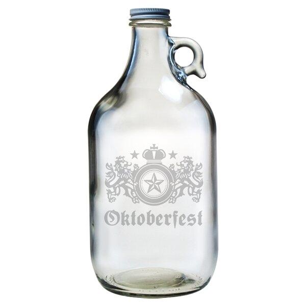 Oktoberfest Glass Growler with Lid by Susquehanna Glass