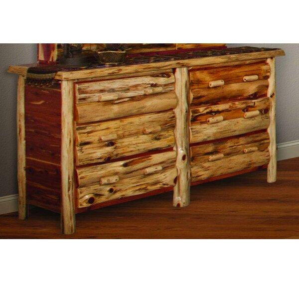 Detroit 6 Drawer Double Dresser by Loon Peak