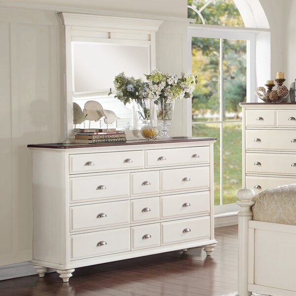 Sandhill 11 Drawer Dresser with Mirror by Rosecliff Heights