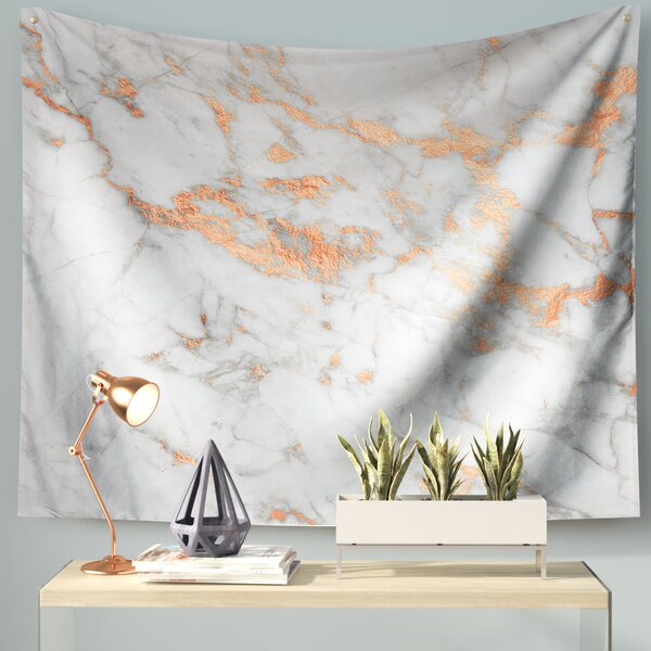 Rose Gold Flake Wall Tapestry by East Urban Home