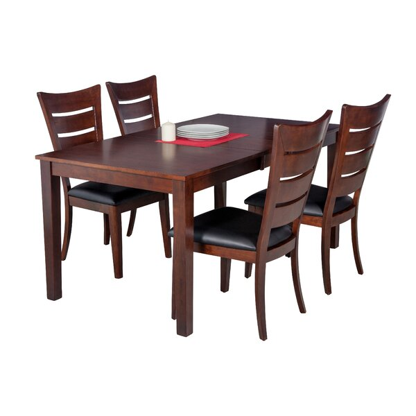 Downieville-Lawson-Dumont 5 Piece Solid Wood Dining Set by Loon Peak