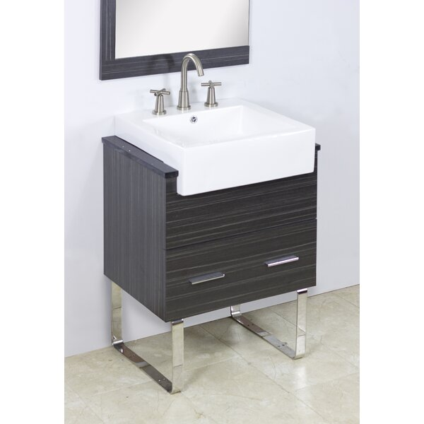 Mulberry Floor Mount 48 Single Bathroom Rectangular Plywood Vanity Set with Ceramic Top by Royal Purple Bath Kitchen