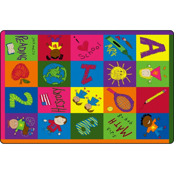 Primary Pictures Kids Rug by Flagship Carpets
