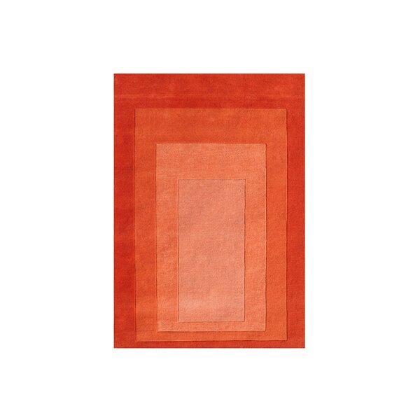 Delaware Hand Woven Wool Orange Indoor Area Rug by Latitude Run