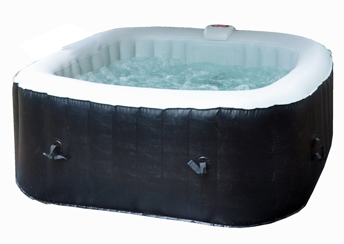 Smart Spa Deluxe 4-6 Person Portable 130-Jet Inflatable Plug and ...
