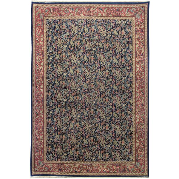 One-of-a-Kind Sino Persian Handwoven 12' x 18' Wool Blue/Red Area Rug