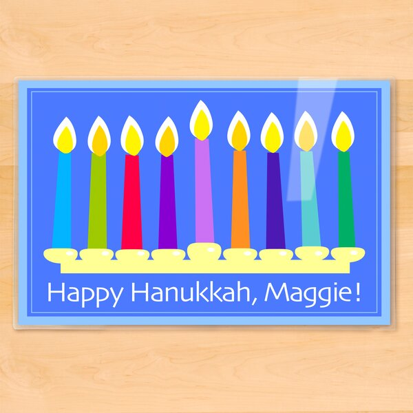 Hanukkah Menorah Personalized Placemat by Olive Kids