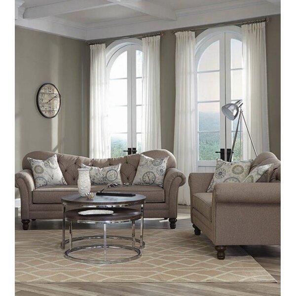 Belle 2 Piece Living Room Set by One Allium Way