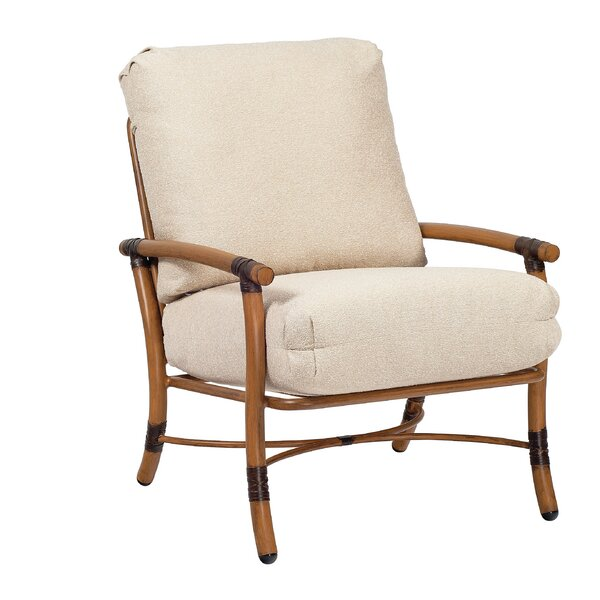 Glade Isle Patio Dining Chair with Cushion by Woodard