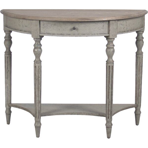 Review Demi Lune Wall Console Table