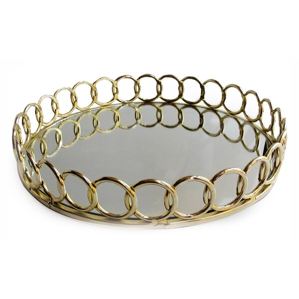 Conesville Loop Round Tray by Alcott Hill