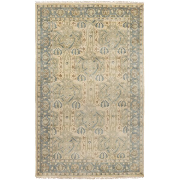 Nevins Light Gray/Moss Area Rug by Darby Home Co