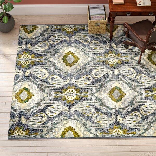 Victoria Ikat Blue/Gray Indoor/Outdoor Area Rug