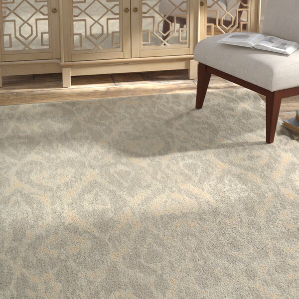 Shaima Gray/Beige Area Rug by Bungalow Rose
