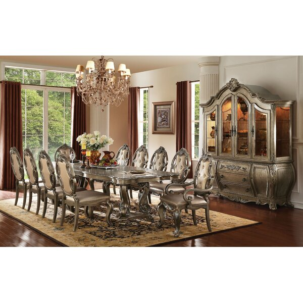 Shelia 11 Pieces Extendable Dining Set by House of Hampton