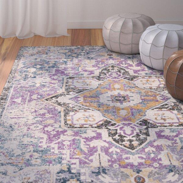 Fonteyne Purple/Teal Area Rug by Bungalow Rose