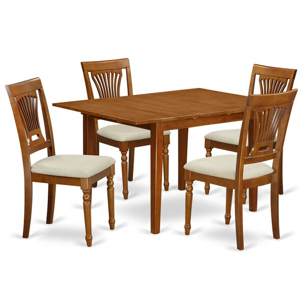 Lorelai 5 Piece Dining Set in, Upholstered by Alcott Hill