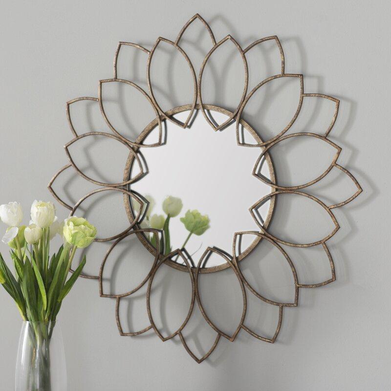 willa arlo interiors brynn traditional round wall mirror u0026 reviews wayfair