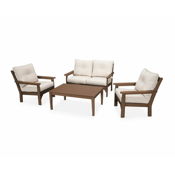 Vineyard 4 Piece Sofa Set with Sunbrella Cushions by POLYWOOD®