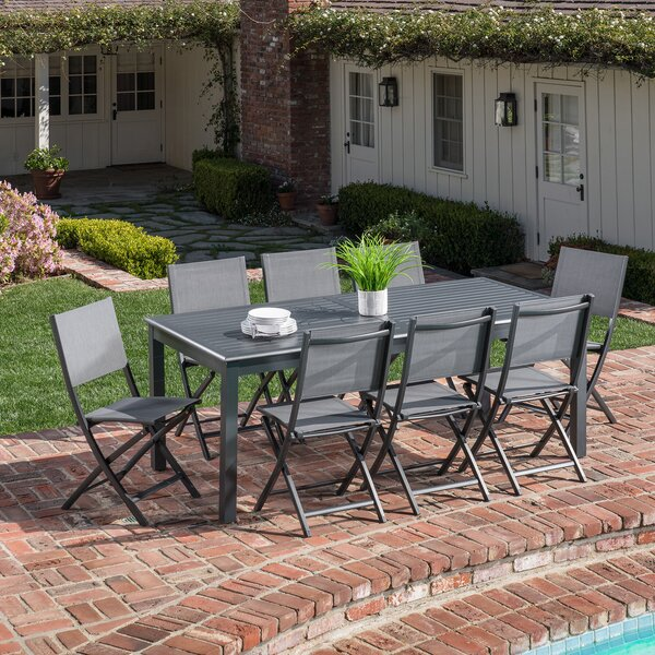 Rashon 9 Piece Dining Set by Latitude Run