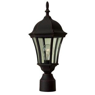 Cast aluminum light post wayfair oakhill cast aluminum 1 light post lantern mozeypictures Gallery