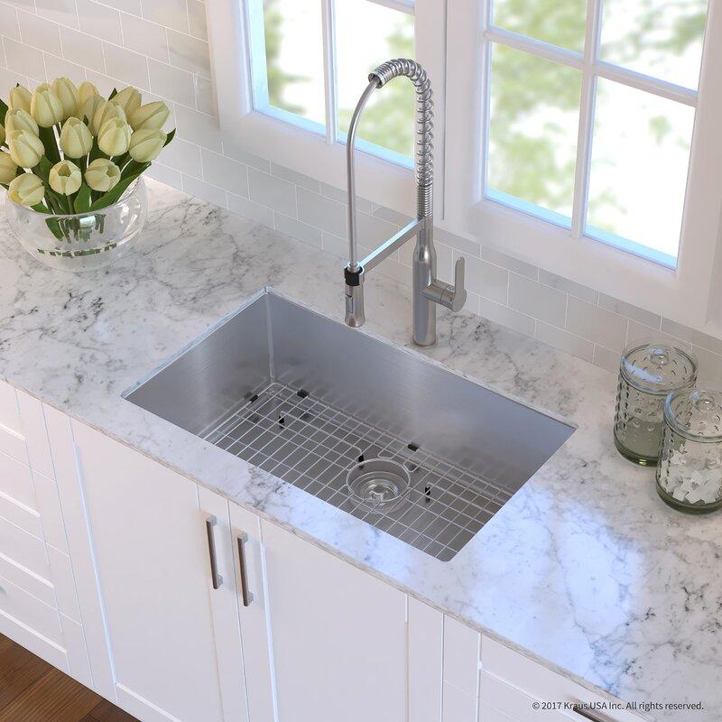 Handmade Stainless Steel 16 Gauge 30 L X 18 W Undermount Kitchen Sink With